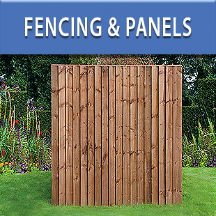 Wooden Fencing Panels, Concrete Gravel Boards Posts