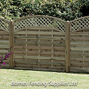 Arched Lattice Top Fence Panels