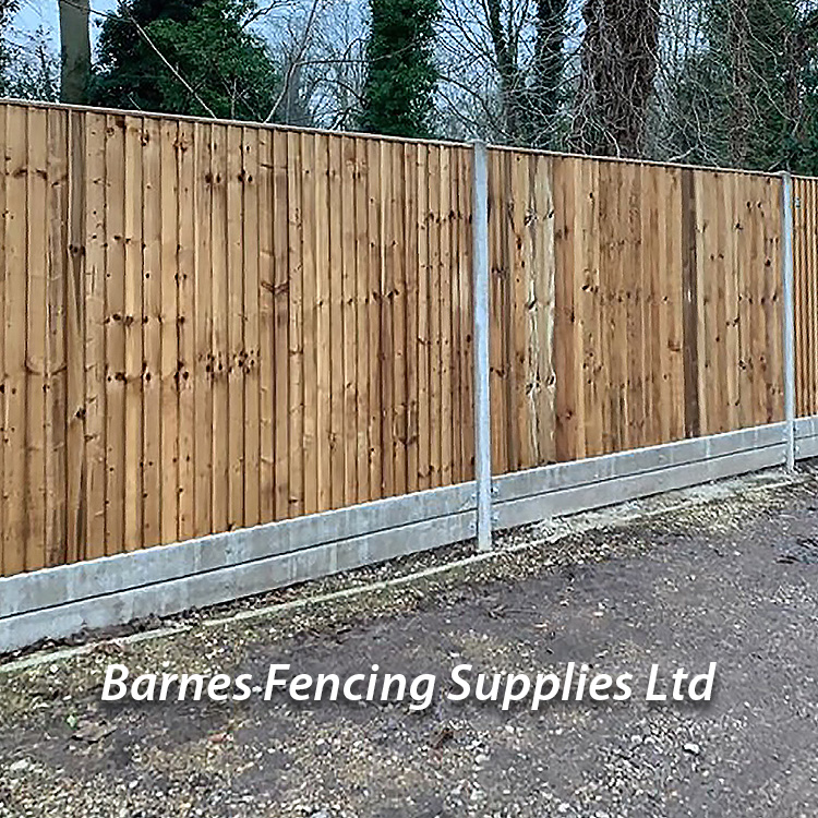 Close Board Concrete Gravel Board Fencing