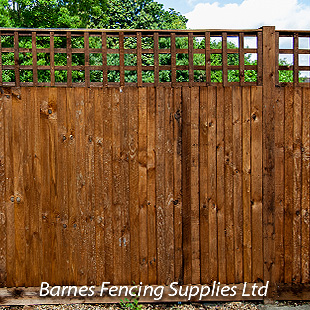 Close Board Fencing with Top Trellis