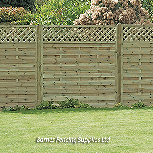 Slat Lattice Top Trellis Fence Panels