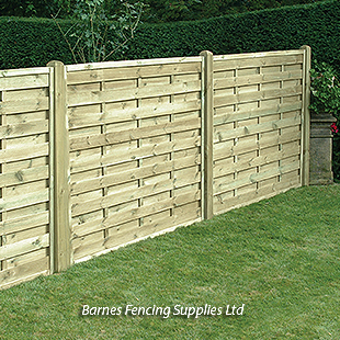 Square Horizontal Fence Panels
